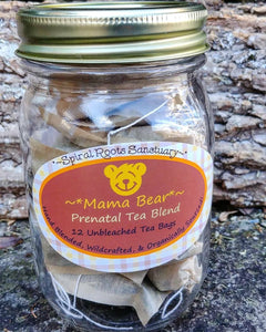 Mama Bear ~ Pregnancy Tea Bags with Organic Prenatal Herbs , Baby Shower Gift for Expecting Mothers and Pregnant Women, Mama Bear
