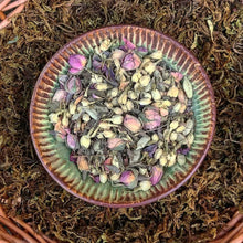 Load image into Gallery viewer, Highest Self ~ Loose Leaf Heart Opening Organic Herbal Tea Blend with Rose Petals, Jasmine, Cardamom & Ashwagandha for Love + Connection, Meditation Herbs