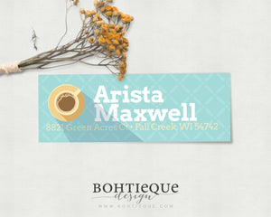 Arista Coffee Return Address Labels