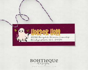 Harper Ghost Personalized Return Address Label