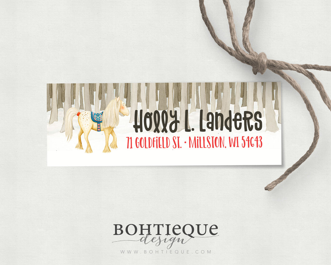 Holly Horse Personalized Return Address Label
