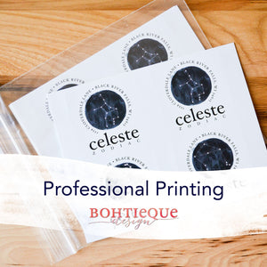 Celestial Woodcut Return Address Labels