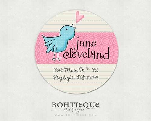 Tweets of Love Return Address Labels