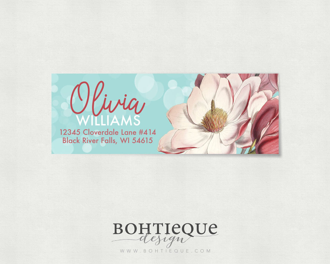 Olivia Return Address Labels