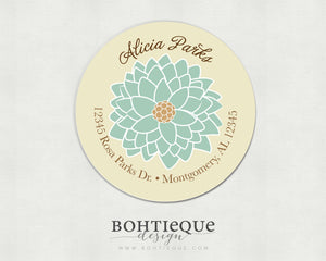 Fleur Address Labels