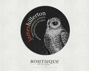 Masculine Owl Return Address Label