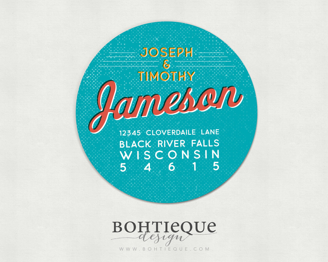 Jameson Return Address Labels