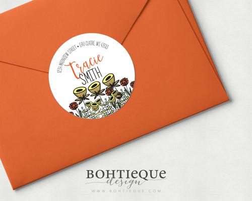 Sunshine FlowersReturn Address Labels