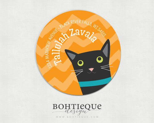 Tallulah the Cat Address Labels