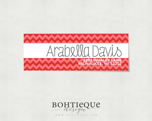 Spunky Chevron Return Address Label