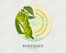 Load image into Gallery viewer, Brewers Hops Botanical Return Address Stickers