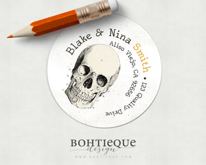 Skull Halloween Return Address Label