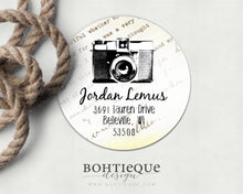 Load image into Gallery viewer, Vintage Camera Photographer Return Address Stickers