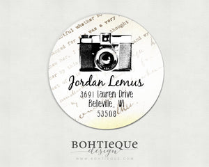 Vintage Camera Photographer Return Address Stickers