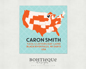 Home States Return Address Labels