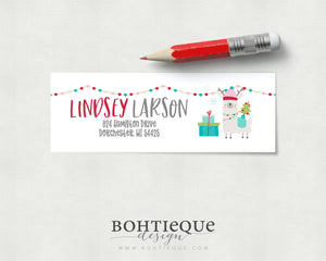 Lindsey Llama Personalized Return Address Label