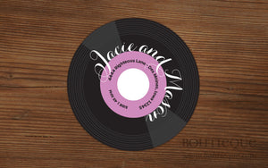 45 Record Album Return Address Labels