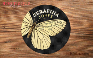 Butterfly Wings Return Address Label