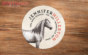 Equestrian, Horse Return Address Label