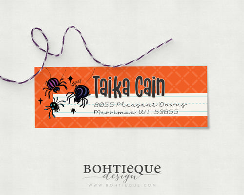 Taika Spider Personalized Return Address Label