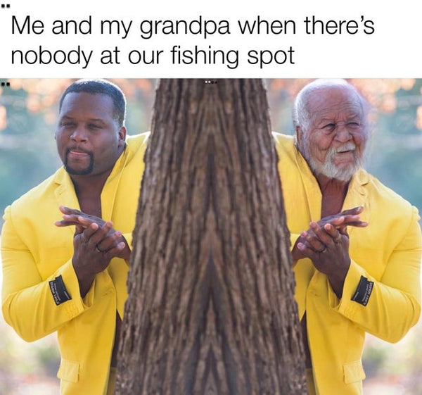 Grandpa fishing meme