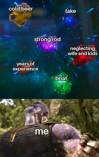 Fishing power meme