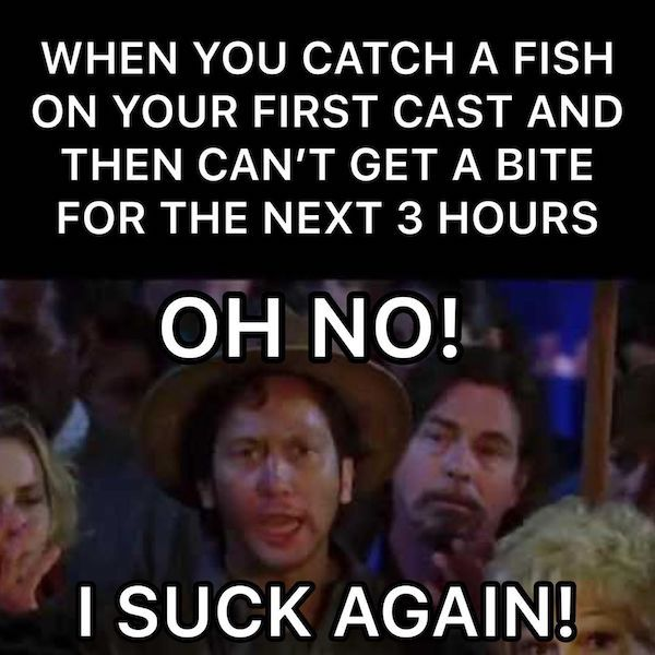 Can't get a bite fishing meme