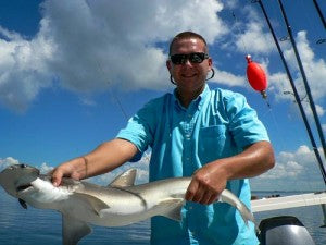 Vince with a nice Bonnethead shark