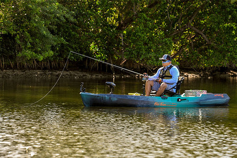 Fishing from the Old Town 120 Sportsman