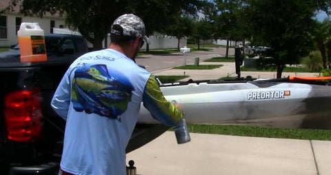 Cleaning Kayak