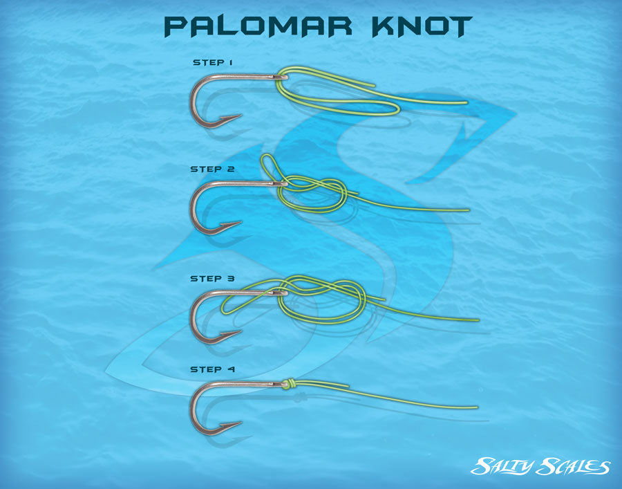 Palomar fishing knot infographic