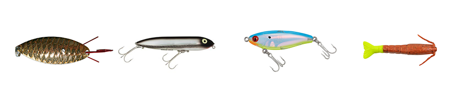 Change lures from kayak