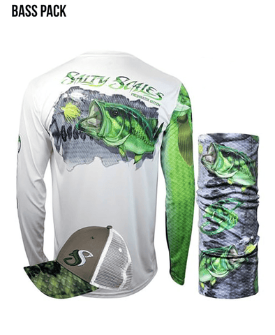 Largemouth Bass Long Sleeve Scale Sun-Shield Gift Pack