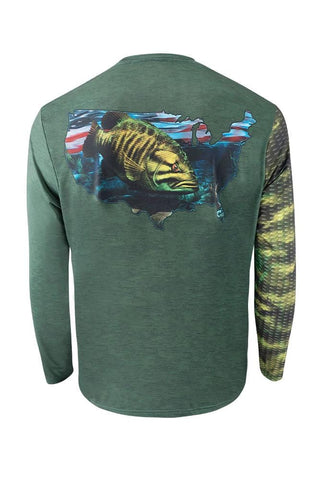Image of Smallmouth Bass Performance Fishing Shirt