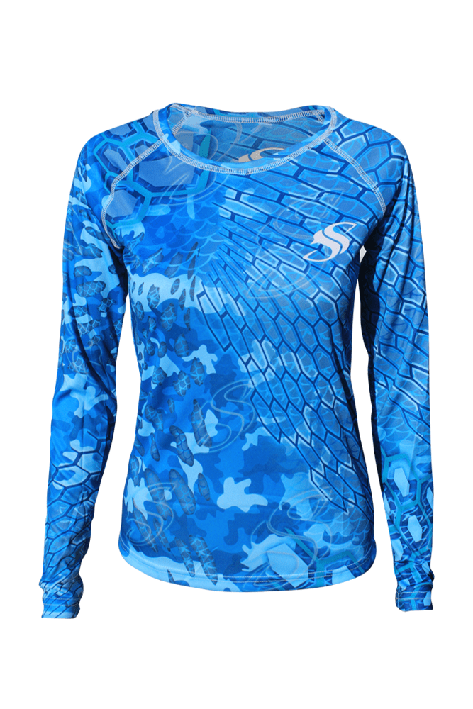 Womens Camo Fishing Sun Shirt