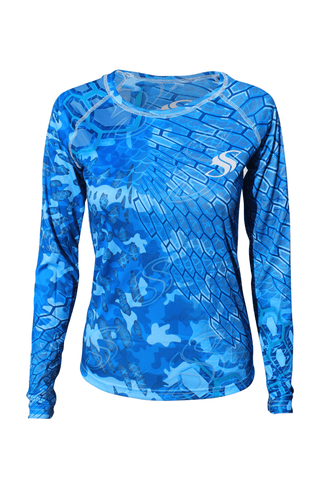 Image of Womens Camo Fishing Sun Shirt