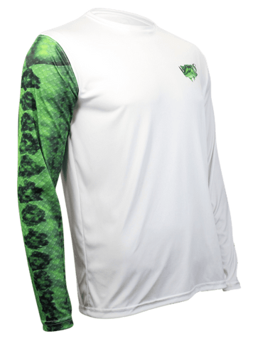Image of Largemouth Bass Long Sleeve Fishing Shirt for Men, Dri-Fit Performance Clothing