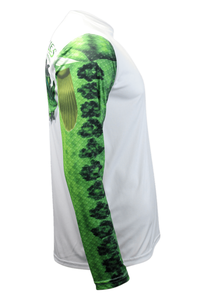 Largemouth Bass Long Sleeve Fishing Shirt for Men, Dri-Fit Performance Clothing