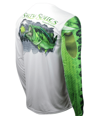 Image of Largemouth Bass Long Sleeve Fishing Shirt for Youth - UPF Protection