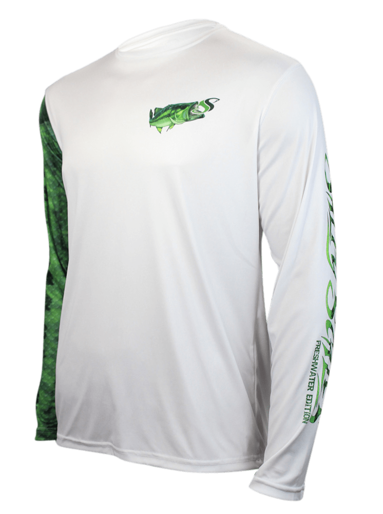 Largemouth Bass Long Sleeve Scale Sun-Shield