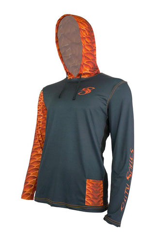 Image of Salty Scales Redfish Gen 3 Hoodie for Men, UPF Performance Clothing
