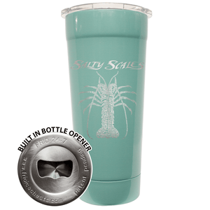 24 OZ Tumbler – SS Lobster (Seafoam, Black and White)