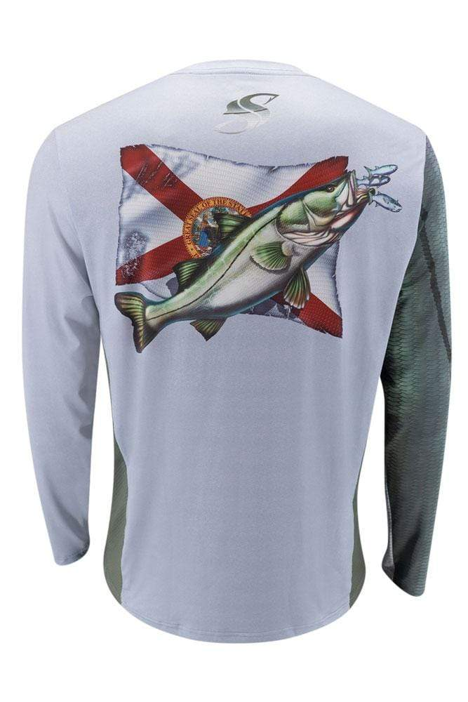 Snook Florida Flag Long Sleeve Fishing Shirt