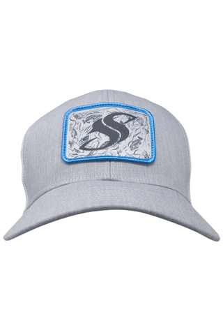 Image of Heather Grey Freshwater Trucker SS Cap