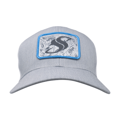 Heather Grey Freshwater Trucker SS Cap