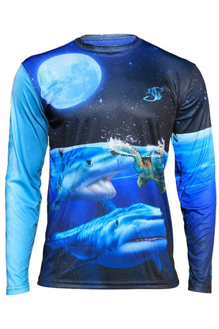 Tiger Shark Performance Long Sleeve Shirt Youth
