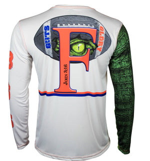 972e1ad4 Florida Gator Longsleeve Gator Guts & Glory Long Sleeve Fishing Shirt for  Men, Dri-Fit Performance Clothing