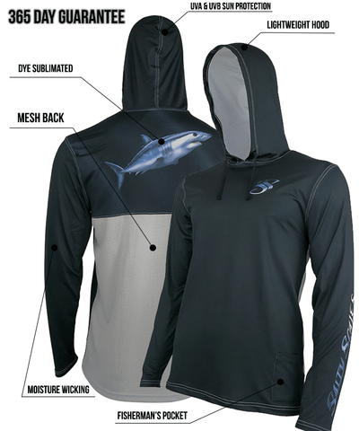 Mako Shark Performance Fishing Hoodie for Men