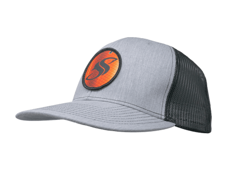 Heather Grey Redfish Trucker SS Cap