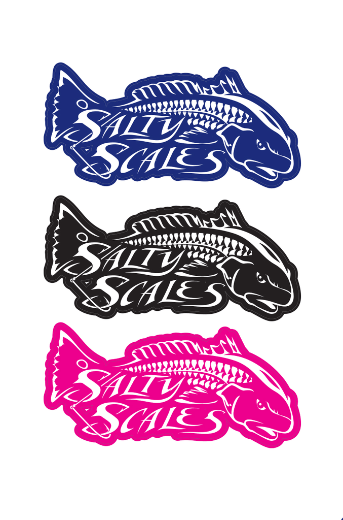 Redfish Decal Salty Scales
